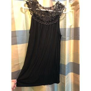 Tops - Black Lace Tunic Top